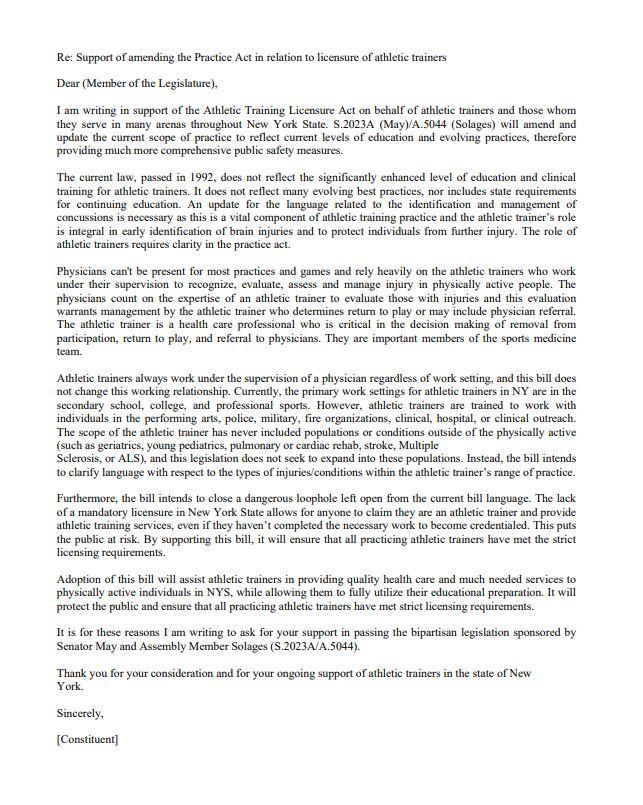 GITG letter